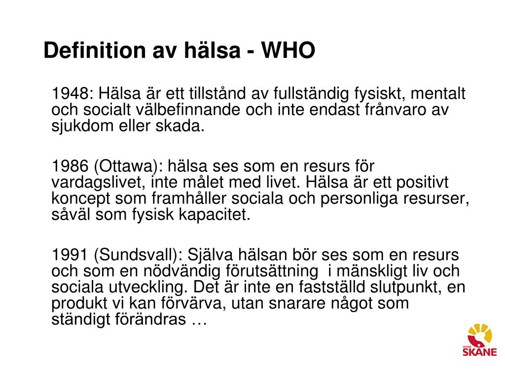 psykosocial hälsa definition