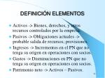 definici n elementos