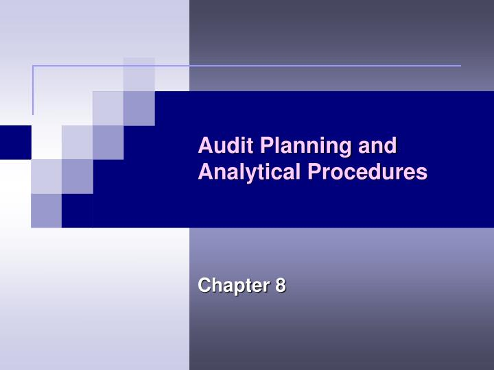 audit planning and analytical procedures n.