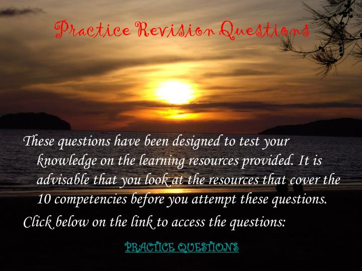 practice revision questions n.