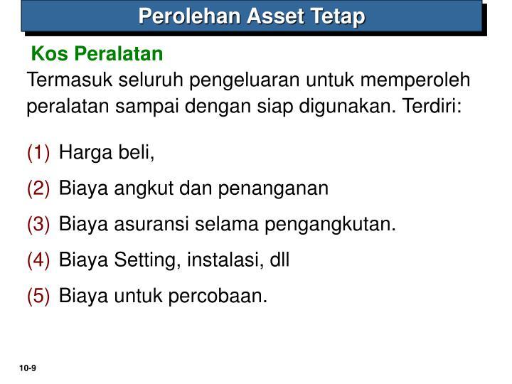 Perolehan Asset Tetap