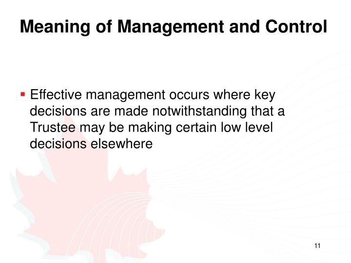 Meaning of Management and Control