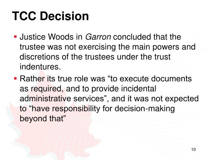 TCC Decision