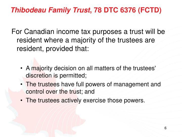 Thibodeau Family Trust