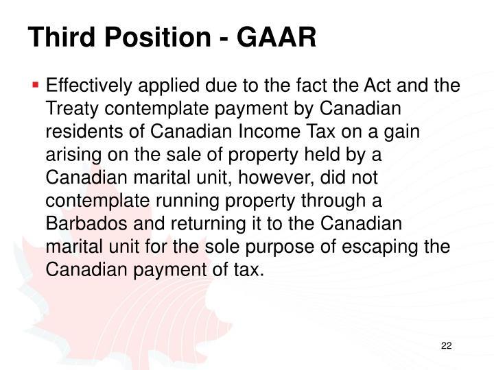 Third Position - GAAR