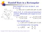 handoff rate in a rectangular