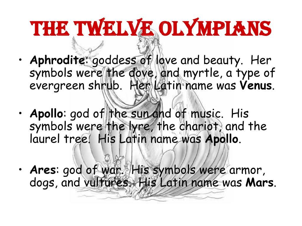 Ppt Greek Mythology Gods Goddesses Powerpoint