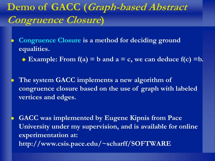 Demo of GACC (