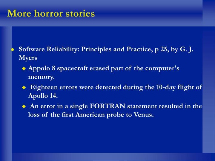 More horror stories