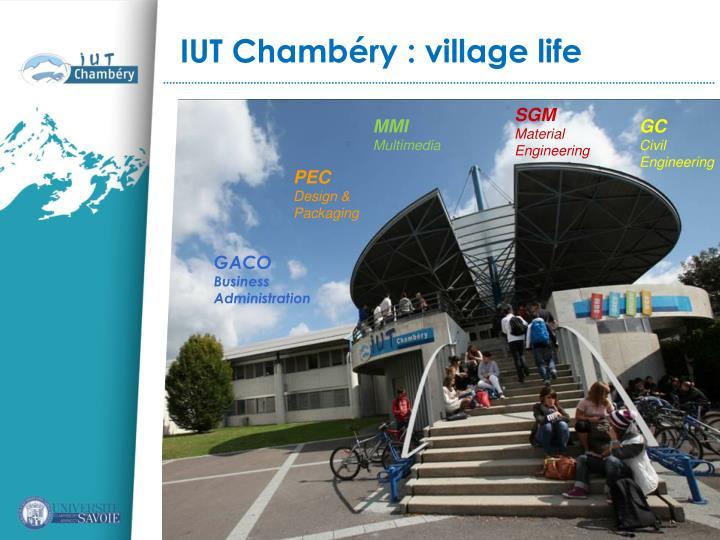 IUT Chambéry : village life