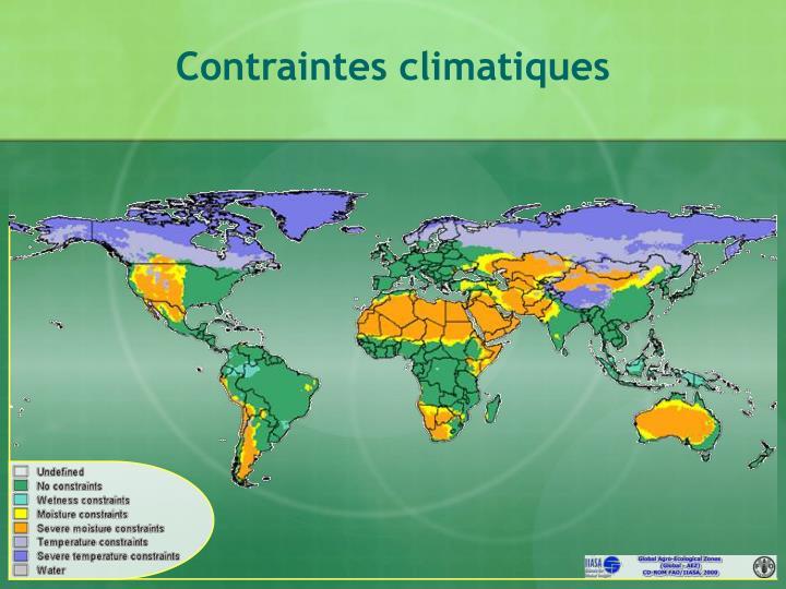 Contraintes climatiques