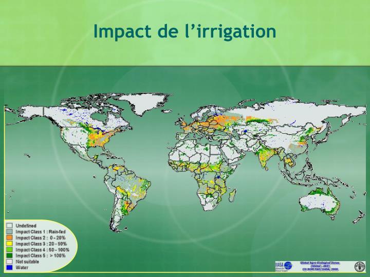 Impact de l'irrigation