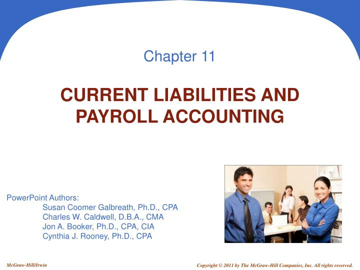 PPT CURRENT LIABILITIES AND PAYROLL ACCOUNTING PowerPoint
