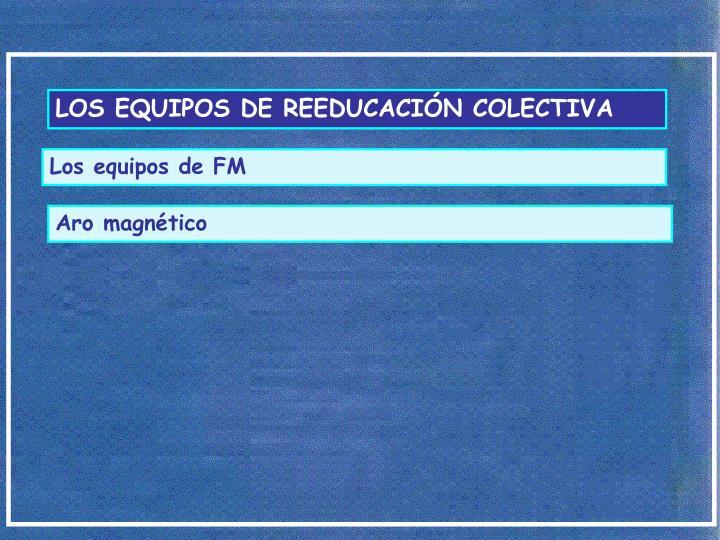 LOS EQUIPOS DE REEDUCACIÓN COLECTIVA