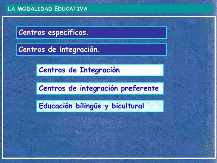 LA MODALIDAD EDUCATIVA