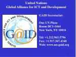 united nations global alliance for ict and development