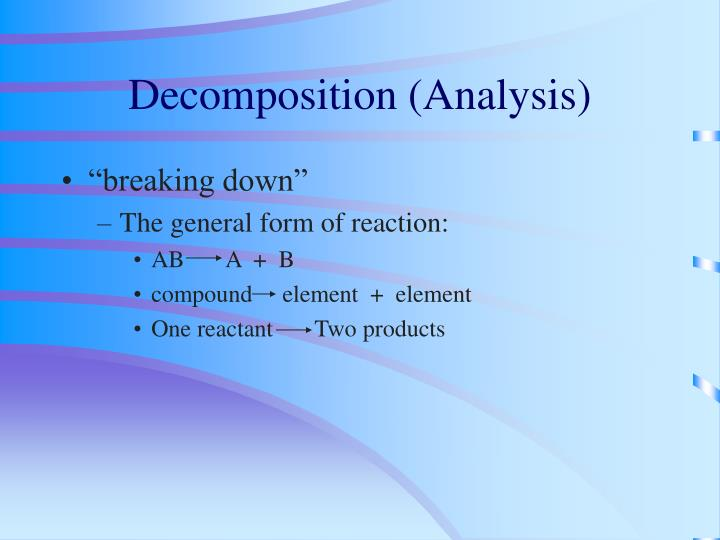 Decomposition (Analysis)