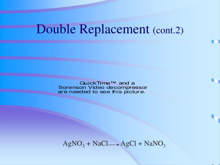 Double Replacement