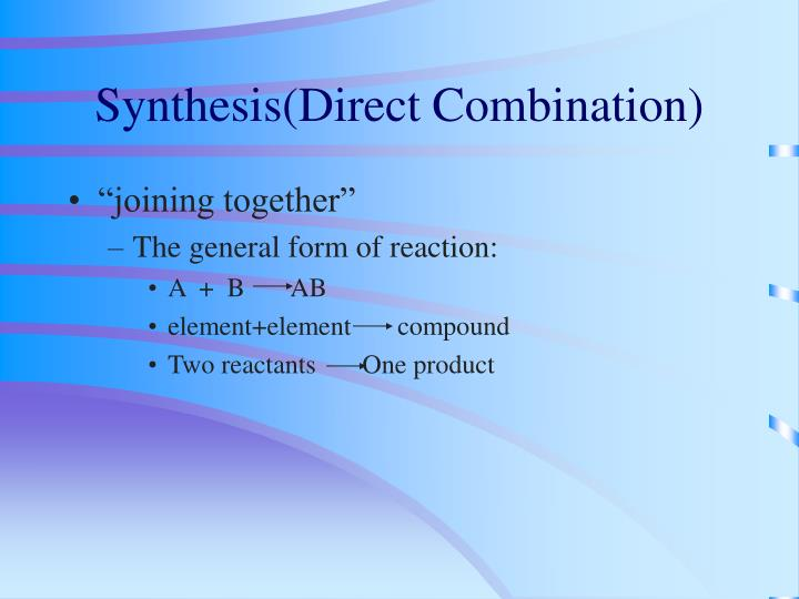 Synthesis(Direct Combination)