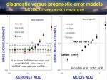 diagnostic versus prognostic error models modis over ocean example
