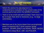 the gap mandate