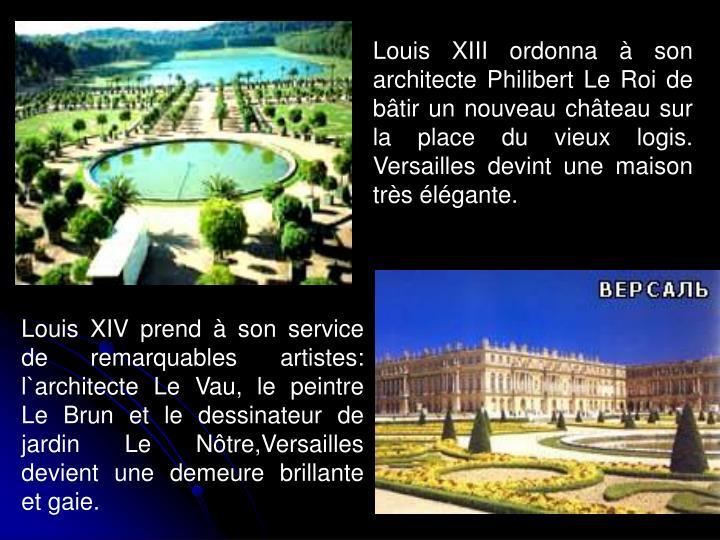 Ppt versailles powerpoint presentation id 4134475 for Architecte jardin versailles