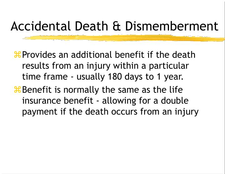 PPT - Group Term Life Insurance AD&D Disability Income ...