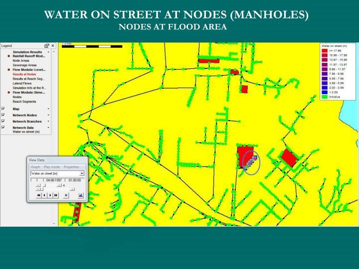 WATER ON STREET AT NODES (MANHOLES)