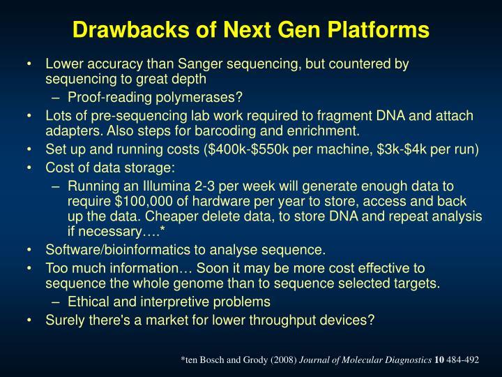 Drawbacks of Next Gen Platforms