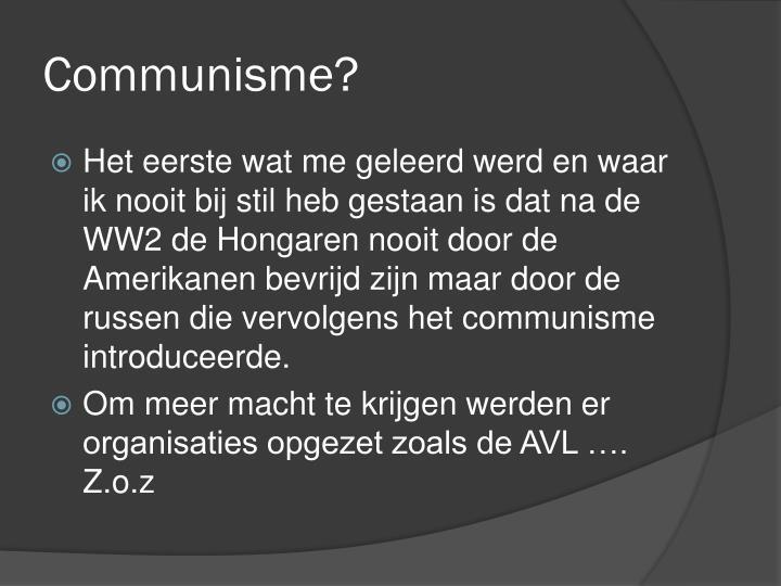 Communisme?