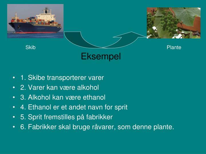1. Skibe transporterer varer