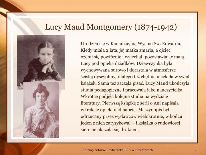 Lucy maud montgomery 1874 1942