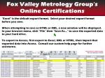 find your certifications export