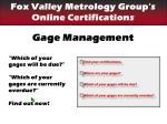 gage management3