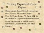 exciting expandable game engine