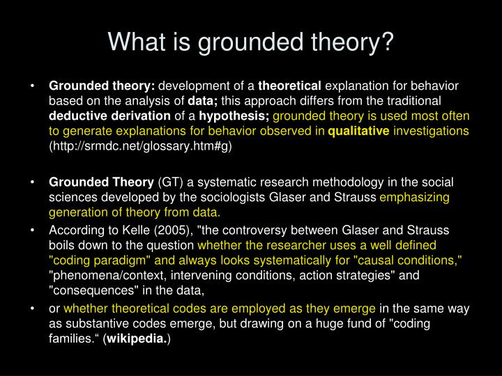 What is grounded theory