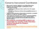 concerns instructional coordination