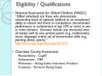 eligibility qualifications