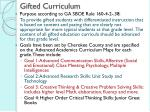 gifted curriculum
