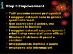 step 5 empowerment