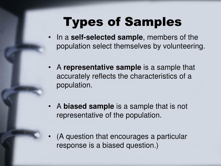 Types of samples1