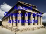ancient greece art and architecture