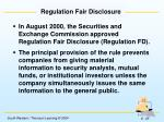 regulation fair disclosure