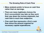 the growing role of cash flow