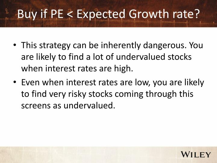 Buy if PE < Expected Growth rate?