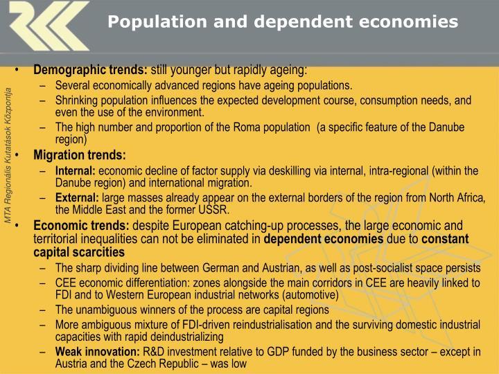 Population and dependent economies