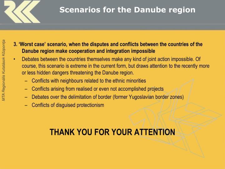 Scenarios for the Danube region