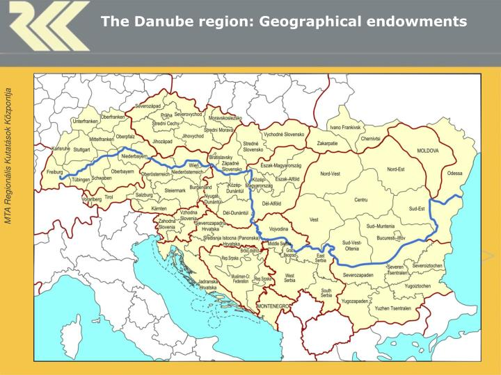 The danube region geographical endowments