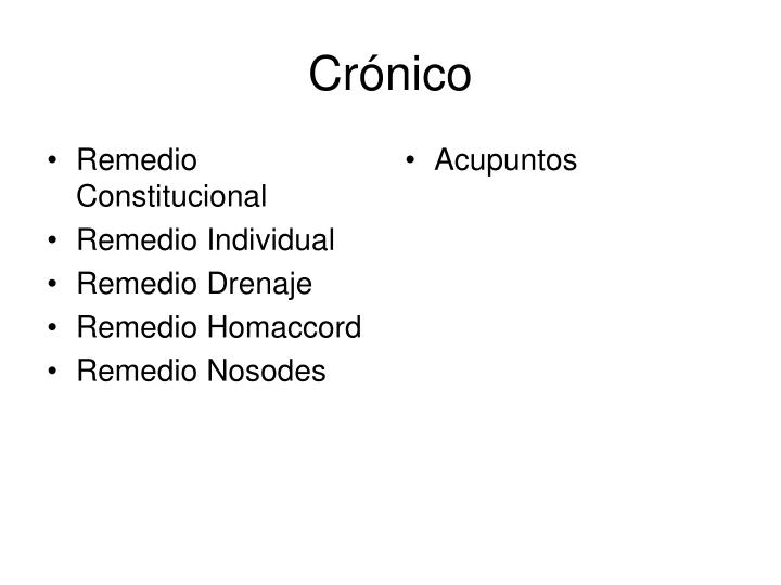 Crónico