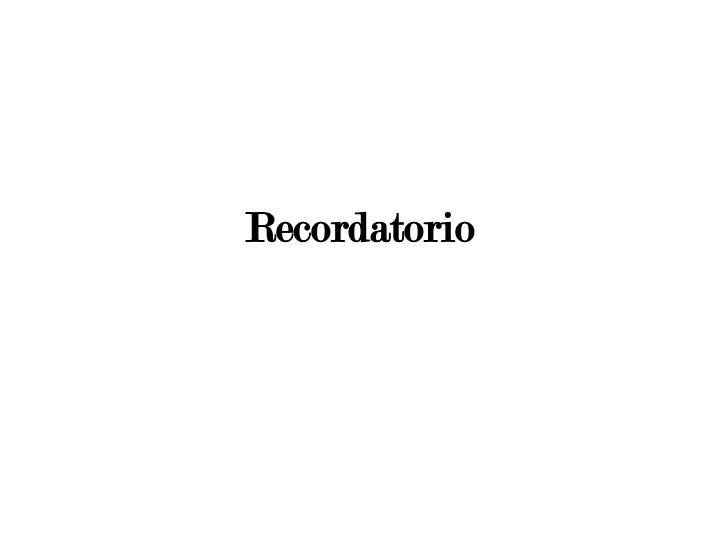 Recordatorio